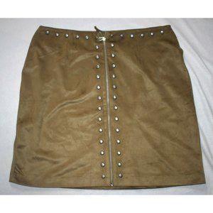 Next Skirt Straight Fitted Velvet Skirt